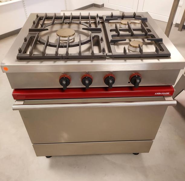 Melior Machines BVBA - Gasfornuis met oven Ambassade